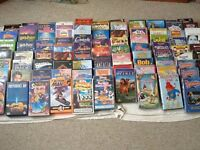 LARGE SELECTION OF KIDS VHS VIDEO TAPES