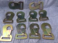 2500kg flat snap hooks, heavy duty, load restraint, ratchet hooks, used with webbing, metal claws