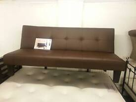 GOOD QUALITY SOFA BED FAUX LEATHER FREE LOCAL DELIVERY