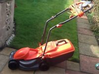 Flymo electric lawnmower RE320. Excellent condition and easy to use.