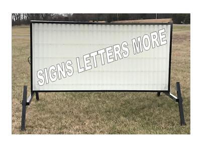 New Non Lighted Outdoor Portable Marquee Roadside Sign Message Area 4x8