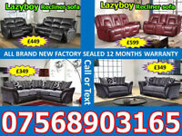 SOFA HOT OFFER BRAND NEW LEATHER RECLINER FAST DELIVERY 7