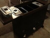 Philips Hostess trolley - perfect condition, with all glass dishes unmarked NOW £40!