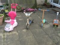 Used outdoors -scooters - any one £5 each ,no damage ,just usual signs of wear