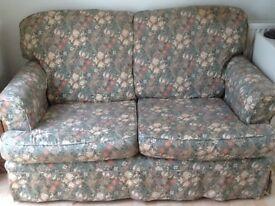 Sofa, 2 seater sofa William Morris lily design loose covers