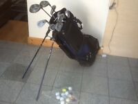 HOWSEN set of clubs-3,4,5,6,7,8,9 ,P & Putter,driver 1&5,Ben Sayer golf bag with legs,10balls+tees