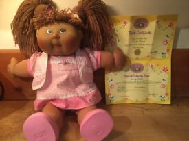 Collectable Cabbage patch kid with certificates