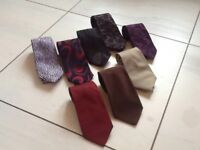 A gorgeous selection of genuine designer silk ties.