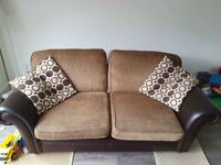DFS half leather sofa bed Good condition