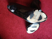 trashed shoes heels size 6 scented