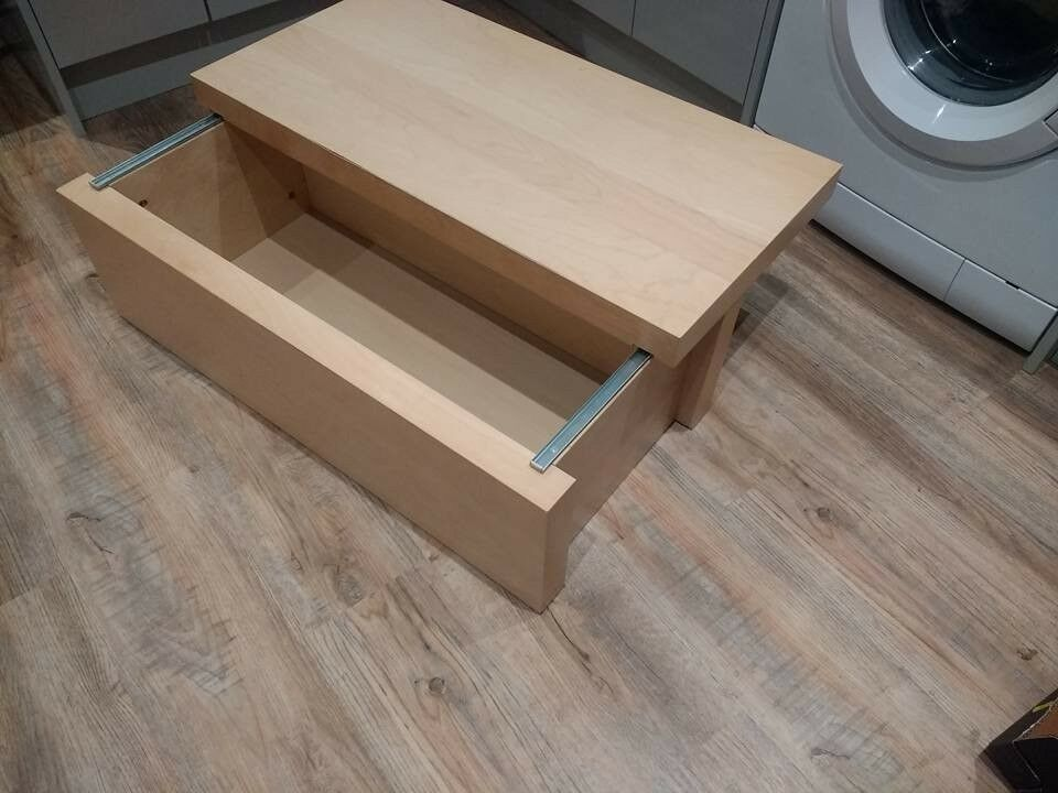 Coffee Table With Sliding Top Storage.Ikea Malm Storage Box Coffee Table With Sliding Top In Taunton Somerset Gumtree