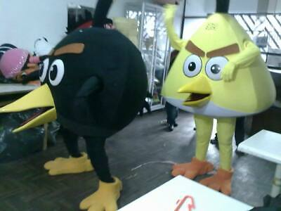 Bomb Angry Birds Black Mascot Costume Character Cosplay Party Birthday Halloween - Angry Birds Halloween Characters