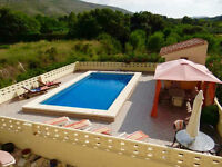 planning to retire to spain? amazing villa avail nov to jan only £150pw sleeps 6 in the real spain!
