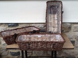 Wicker Garden Troughs / strawberry / flower Planters NEW
