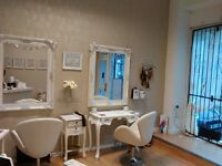 Hairdressing chair to rent in a Boutique style salon Leeds