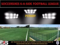 BRAND NEW 6ASIDE LEAGUE IN THE WIRRAL (CREATE YOUR OWN TEAM AND JOIN UP)