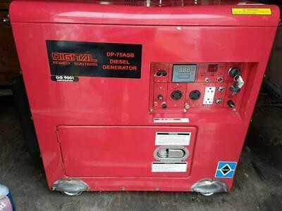 Digital Power Systems 7500 Watt Portable Diesel Generatoronly 19 Hours Dp-75asb
