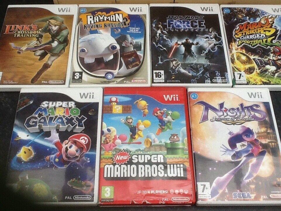Nintendo WII Games Mario Zelda