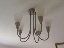5 arm ceiling light..