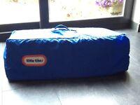 Little Tikes blue travel cot