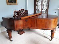 Elegant period Hagspiel and Comapany Baby Grand Piano