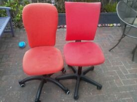 FREE 2 Ikea red computer chairs