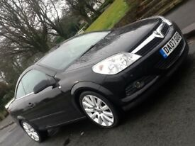 2007 VAUXHALL ASTRA 1.9 CDTI EXCLUSIVE TWIN TOP CONVERTIBLE WITH LEATHER AND FSH