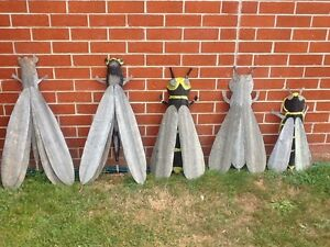 Hand made decorative insects, corrugated iron 'corrugami'. Ballarat Central Ballarat City Preview