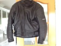 Ashman cowhide leather motorcycle jacket size 42 ins or 52 eur