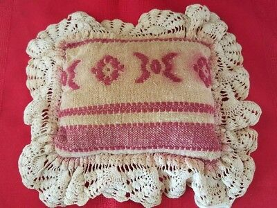 Antique Vintage 1900's Collectible Pillow 8x7