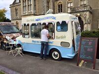 Vintage ice cream van for hire weddings, birthdays etc