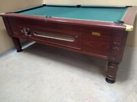 7x4 Ex-Pub Slate Bed Imperial Pool Table - New Recover & Accessories - Free Local Delivery