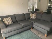 Grey corner sofa , like new condition