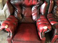 Chesterfield Oxford Red Sofa Armchair very comfy chesterfield deliver local