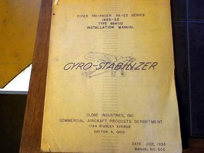 Globe GYRO-STABILIZER in 1953-1955 Piper PA-22 Tri-Pacer Install & Test Manual