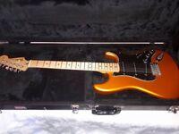 Fender satin series Stratocaster flame orange