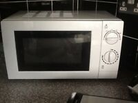 Small white microwave, almost new