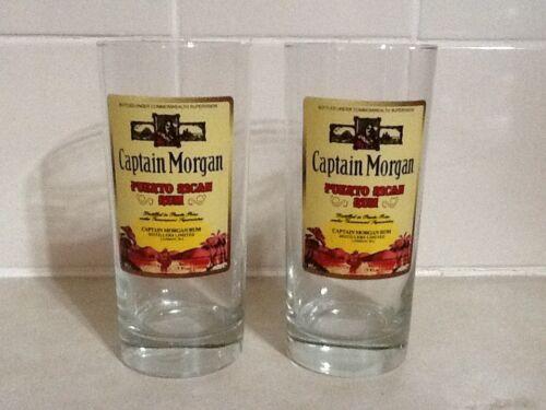 Captain Morgan Puerto Rican Rum 15oz Glasses Set Of 2