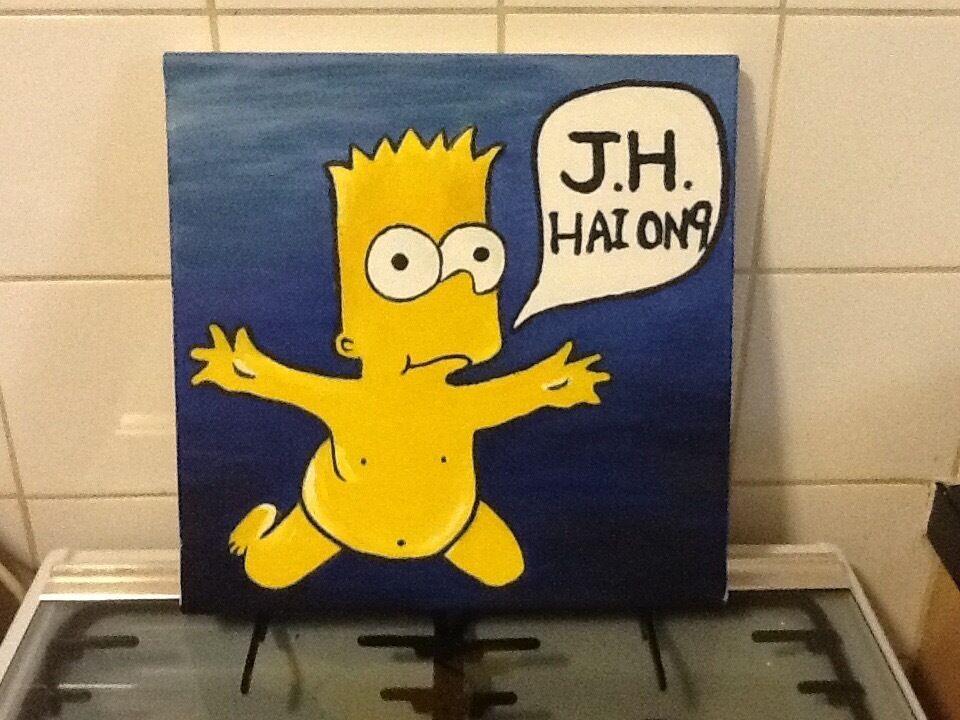 Bart Simpson oil on canvas