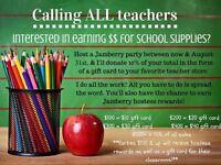 Teachers Jamberry fundraiser