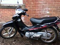 Haotian black motor bike