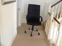 Black Office Chair. Superb condition