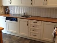 Cream Kitchen units and appliances for sale