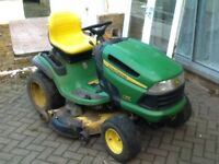 John Deere X140 ride on lawnmower