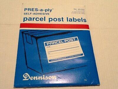 Vtg Dennison Self Adhesive Parcel Post Labels 43-222 Lot Of 141 Unused Labels