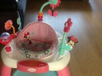 Fisher Price bounce & vibrate chair/ Minnie Mouse Bounce & Bloom activity Centre & Baby Walker