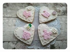 Baby Girl Baby Shower Biscuits, Party Food, Christening Food, Baby Gift, Birthday Treat.