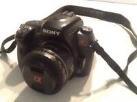 Sony alpha a550 plus 2 lens