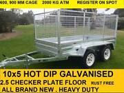 8x5 TANDEM HOT DIP GALVANISED 2000 KG GVM TRAILER ON SALE NOW Pakenham Cardinia Area Preview