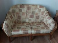 Two piece settee set and coffee table